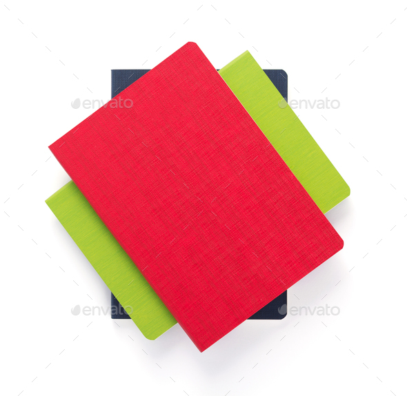 notebook at white paper background - Stock Photo - Images