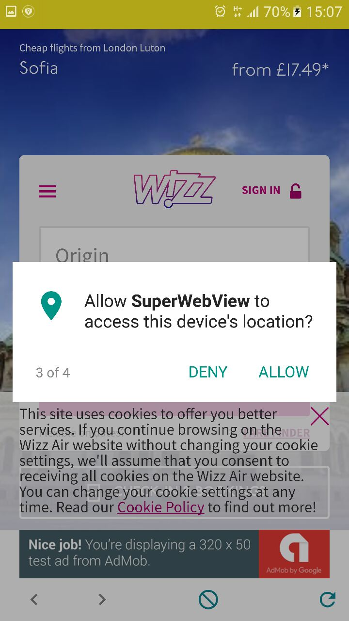 SuperView - WebView App for Android with Push Notification, AdMob, In-app  Billing App