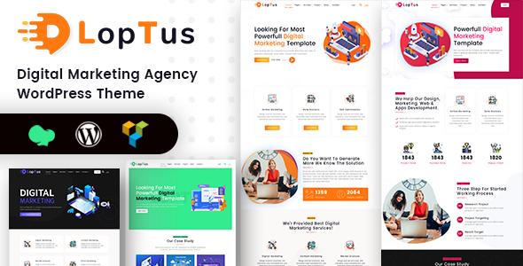 Loptus – Digital Marketing Agency WordPress Theme Free Download