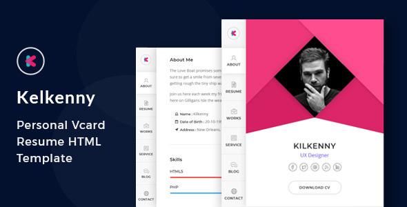 Kelkenny - vCard / CV / Resume / Portfolio