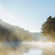 Sunrise at fog on lake - PhotoDune Item for Sale