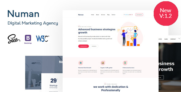 Numan- Digital & Marketing Agency HTML Template