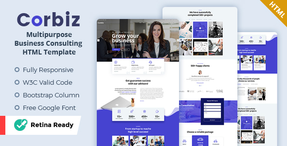 Corbiz - Multipurpose Business Consulting HTML Template