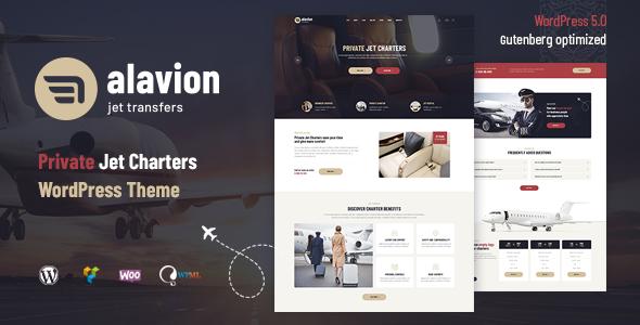 Alavion – Private Jet Charters WordPress Theme Free Download