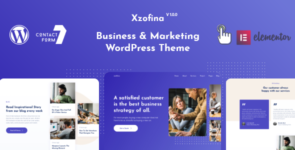 Xzofina - Business And Marketing WordPress Theme