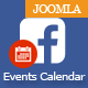 Facebook Events Calendar For Joomla