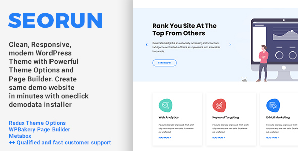 Seorun - SEO Digital Marketing Agency WordPress Theme