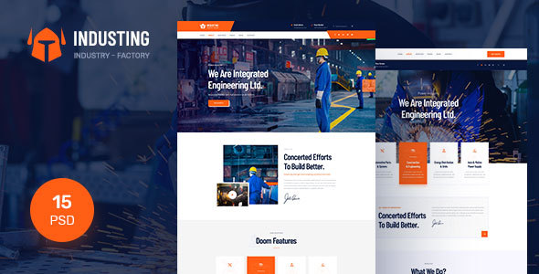 Industing - Industry & Factory Business PSD Template