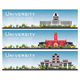 Set of University Campus Study Banners - GraphicRiver Item for Sale