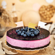 Delicious homemade blueberry cheesecake decorated with jelly - PhotoDune Item for Sale