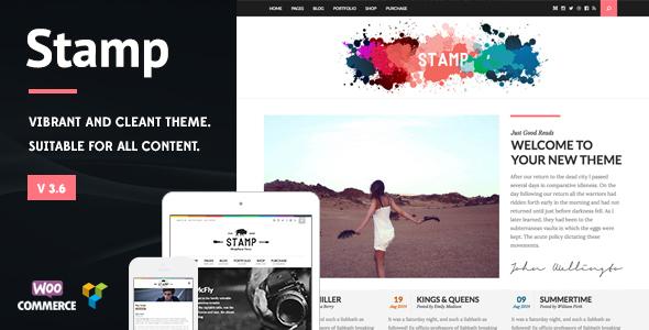 Stamp – Vibrant WordPress Theme Free Download