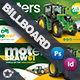 Vehichle Mower Billboard Templates - GraphicRiver Item for Sale
