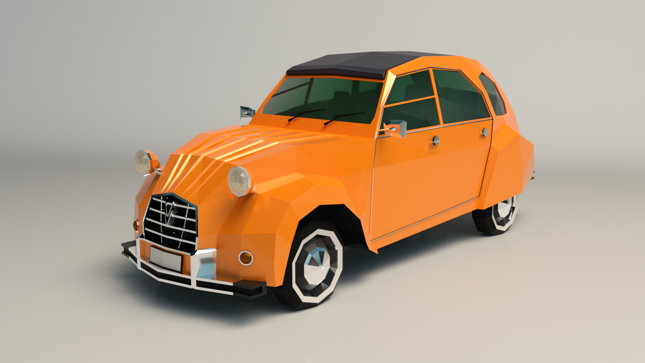Low Poly City Car 04