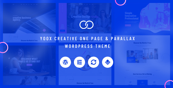 Yoox –  Creative One Page & Parallax WordPress Theme Free Download