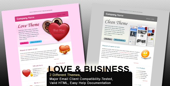 Free Download Valentine and Business - Email Template - 2 Layout Nulled Latest Version
