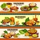 Ramadan Iftar Meat and Fish Dishes with Dessert - GraphicRiver Item for Sale