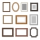 Wooden Photo Frames and Picture Golden Borders - GraphicRiver Item for Sale