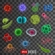 Virus Cells Bacteria and Germs - GraphicRiver Item for Sale