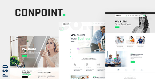 Conpoint - Business Consulting and Professional Services PSD Template