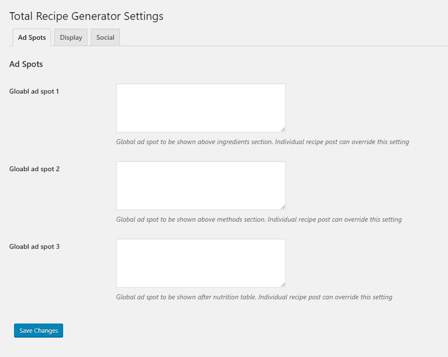 Total Recipe Generator - WordPress