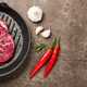 Fresh ribeye steak on a pan and spices - PhotoDune Item for Sale