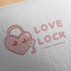 Love Lock Logo Design - GraphicRiver Item for Sale