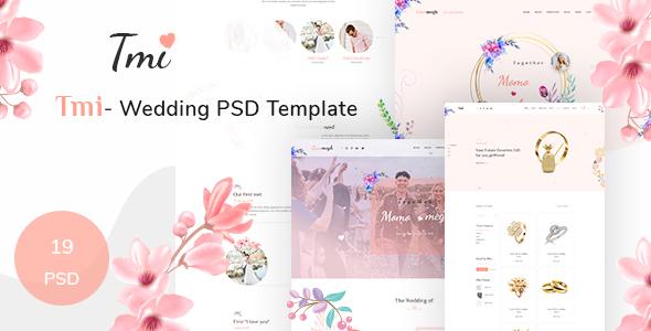 Tmi - Wedding PSD Template