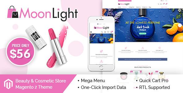 MoonLight – Elegant Cosmetics & Accessories Magento 2 Theme