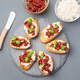Bruschetta with sun dried tomato, feta and philadelphia cheese a - PhotoDune Item for Sale