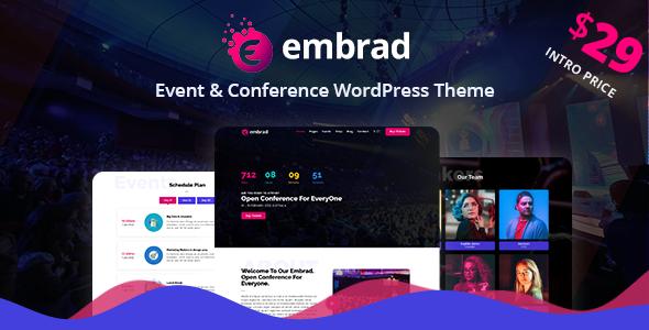 Embrad - Event & Conference WordPress Theme