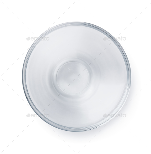 Empty glass bowl - Stock Photo - Images