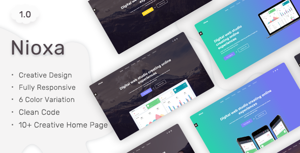 Nioxa - Responsive Landing Page Tamplate