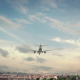 Airplane Landing Rome Italy - VideoHive Item for Sale