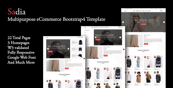 Sadia - Multipurpose eCommerce Bootstrap4 Template