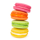 Stack of colorful french macaroons isolated on white - PhotoDune Item for Sale