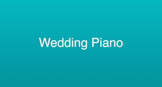 Wedding Piano