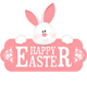 Funny Easter Bunny Jumping