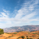 beautiful red land against a blue sky in dongchuan district, kunming city,yunnan - PhotoDune Item for Sale