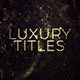 Luxury Gold Titles - VideoHive Item for Sale