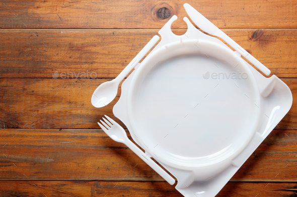 Plastic Plate - Stock Photo - Images