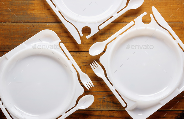 Plastic Plates - Stock Photo - Images