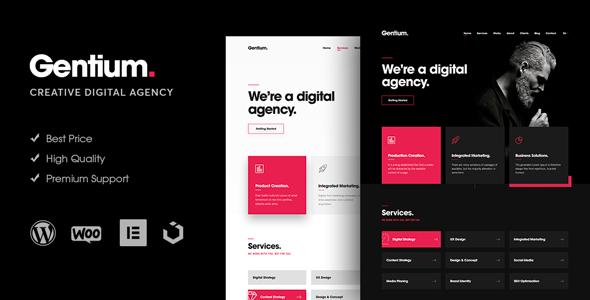 Gentium – A Creative Digital Agency WordPress Theme Free Download
