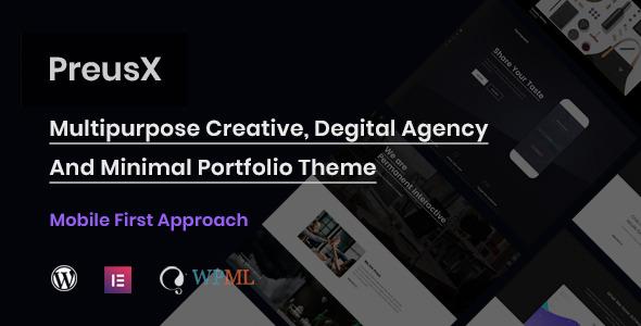 PreusX – Digital Agency And Portfolio WordPress Theme Free Download