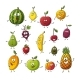 Collection of Some Different Cartoon Fruits - GraphicRiver Item for Sale