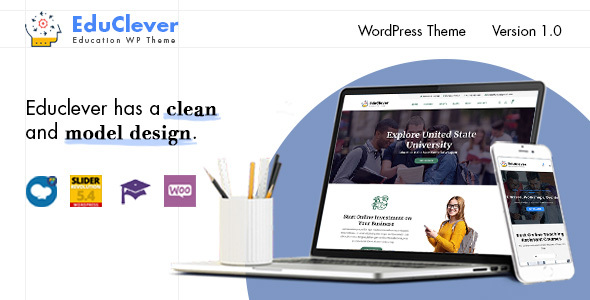 Educlever – Education WordPress Themes Free Download
