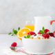 Healthy breakfast with granola and berries - PhotoDune Item for Sale