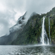 Cloudy and rainy day at Milford Sound, South Island, New Zealand - PhotoDune Item for Sale