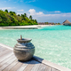 Blue ocean and jetty on Maldives. - PhotoDune Item for Sale