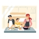 Family Cooking Dinner - GraphicRiver Item for Sale