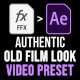 Authentic Old Film Look Preset - VideoHive Item for Sale